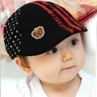 free shipping of  cotton material and  fashional visor cap baseball hats for kids printed stars design