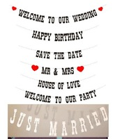 """""""Welcome to our wedding""""  Wedding Banner Party Decorations Garland Buntings Banners Handmade"""