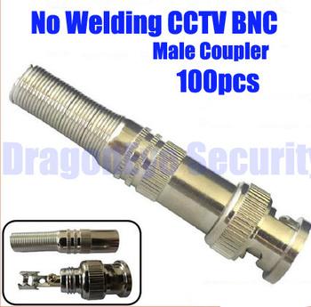 No-welding CCTV BNC Male Connector coupler bnc Male Crimp plug freeshipping