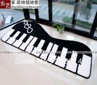 50*120cm FREE SHIPPING Custom-made winter Carpet (Black and white) Piano carpet mats carpets bathroom bath mat non-slip pad