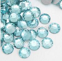 1440p SS6 1.9-2.0mm  Aquamarine Crystal Rhinestones Bling  FlatbackRhinestones 3D Nail Art  Decoration Rhinestone Glitter Beads