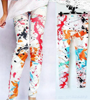 Free Shipping! Women Sexy Scrawl Printing Stretchable Leggings Skinny Pants