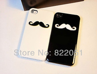 New Fashion Mobile Phone Case Rhinestone Hard Cover for iphone4/4s,mustache,2 colours Free shipping