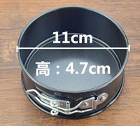 Free shipping 4' lock button belt stainless steel cake mould bakeshops leak-proof mould diameter 11cm mini cake mould