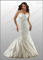 Hot Sexy Plus Size Wedding Dresses Mermaid Sweetheart Satin Embroidery Wedding Dress GownsSize 2 4 6 8 10 12 14 16 18 20