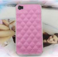 New Luxury Elegant Design Genuine Leather Case Back Cover for iPhone 4 4G XL02