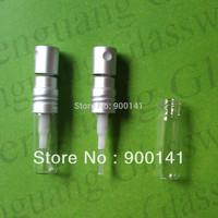 1ml 10*33mm glass bottle perfume bottle test perfume bottle sampler vial with screw aluminum spray