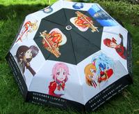 Free shipping Cartoon umbrella Sword domain of God Pain umbrella Animation around umbrella