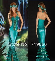 Discount On Sale Sexy Mermaid Costume For Halloween, Sexy Party Dress For Woman,Cosplay Dress(China (Mainland))
