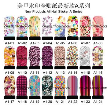 FREE SHIPPING 20sheets/lot   fashion designs water decals DIY nail art sticker nail decoration wholesale