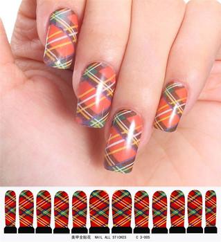 Nail art water transfer printing full finger applique nail art sticky small sharks c3 series