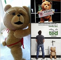 60cm wholesale stuffed bears discount giant stuffed teddy bear  plush toy  for the girl children ted movie