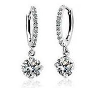 Wholesale White Gold Plated Crystal Drop Earrings,Fashion Austrian Zircon Rhinestone Earrings, Fashion Jewelry MG176