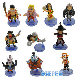 Wholesale One Piece Luffy Boa Hancock Mini Action Toys Collectable Figure 10pcs/set For Christmas Gift Free Shipping