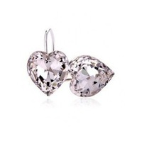Wholesale White Gold Plated Crystal Heart Earrings,Fashion Austrian Crystal Earrings, Fashion Jewelry MG663