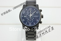 100% Original New men Full Black Stainless Steel 316 watch 2012 Year New model MONT 44MM
