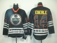 Oilers  #14 Jordan Eberle Black Ice Hockey jersey wholesale free & fast shipping Stitched Numbers