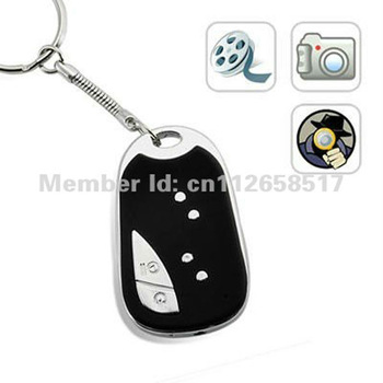 Crazy Promotion!!!1280 1240 CAR keys chain sound control video 909 REMOTE Mini DVR MICRO CAMERA