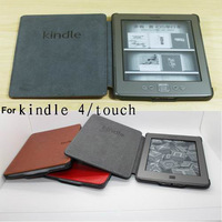 2013 New Style Kindle 4 case ,PU Leather pouch for Amazon ebook,retail and wholesale,Singapore Free shipping