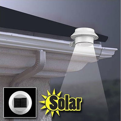 3 LED Solar Powered Fence Gutter Light Wall Lobby Pathway Garden Lamp White/warm white New(China (Mainland))
