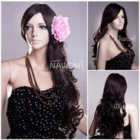 Alibaba aliexpress Retail European lolita long wavy pretty fashion party wigs with kanekalon perruque hair for perfect lady