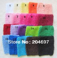 Mix 10pcs New Arrival 20cm X 23cm Baby Girl Crochet Tutu Tube Tops Chest Wrap Wide Crochet Headbands Wholesale Free Shipping