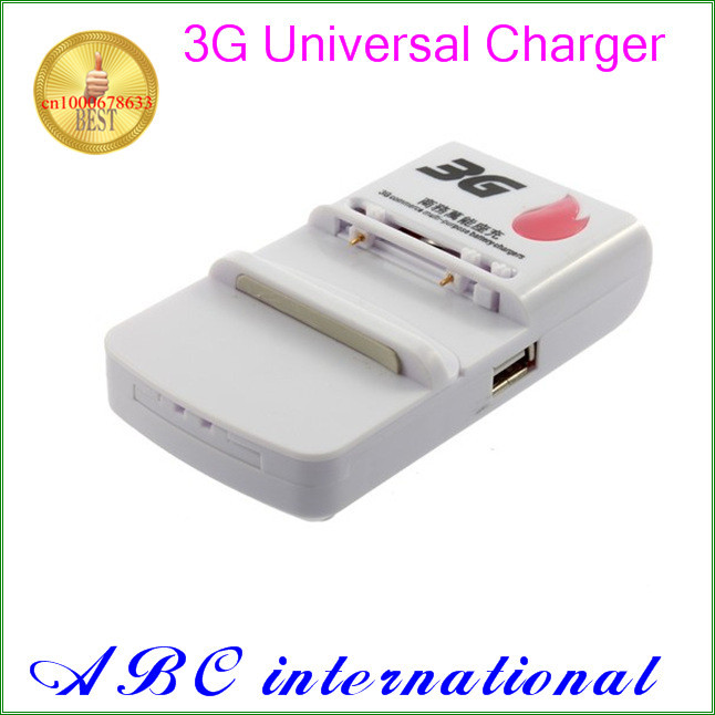 New 3G Business Universal Battery Charger With USB Port Output For Mobile Phone free shipping portable travel adapter US plug(China (Mainland))