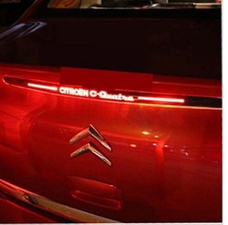 Personalized car stickers citroen brake lights carbon fiber cutout customize(China (Mainland))