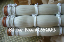 1KG Top grade Stallion Siberian horsetail bowhair 78 cm violin bow horse hair white bow hair(China (Mainland))