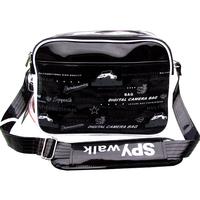Spywalk casual shoulder bag male student school bag japanned leather bag preppy style bag messenger