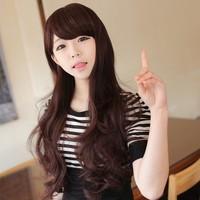 Non-mainstream wig fluffy long curly hair oblique bangs bobo female high temperature wire repair package jiafa popular girl wig