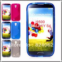 Wholesale 500pcs/lot Galaxy S4 Anti-skid design tpu case, Nes S Line Soft TPU Case for Samsung Galaxy S IV S4 i9500