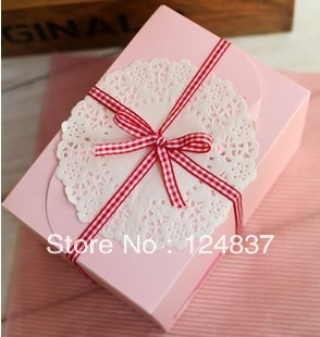 Bow snack box party/webbing cake Box single cupcake boxes cute paper box cake decorating tools for the cakes