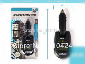 (5 pcs/lot) 12V & 24V Mini vehicle Automotive Battery Checker Load Tester Electrical Analyzer EM281
