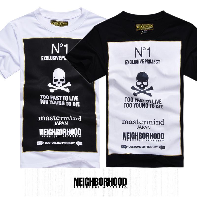 Free shipping skull brand logo t-shirt swept the world street style ...