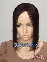 Handmade hand woven real H HAIR fringe hair piece toupee 10.5x7cm