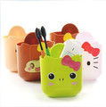 2pcs/lot Cute cartoon animals suction cups Storage Trays plastic bucket,Free shipping X472(China (Mainland))