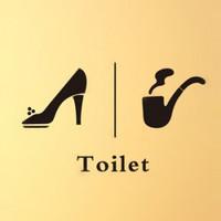 Toilet wall stickers wallpaper msj450