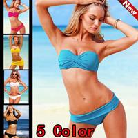 Free shipping/ON SALE Women Sexy Push Up Swimwear Bikini Set Women VS Swimsuits 5 Colors swimsuit bikini swimwear Women