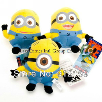 "3pcs / set Despicable ME Movie Plush Toy 7 inch "" 17cm Minion Jorge Stewart Dave NWT with tags"