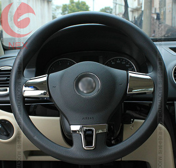 VW  passat b5 b7 Bora 2010-2013 POLO 2013 GOLF 6 LAVIDA  jetta TIGUAN The steering wheel paillette adornment