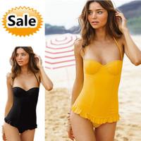 Free shipping/swimsuit Bikini triangle connecting steel support gather women's swimwear Tankini
