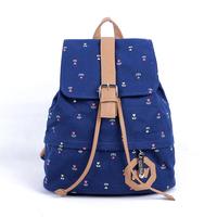 Wooden old manse women's handbag canvas bag preppy style student school bag female 2014