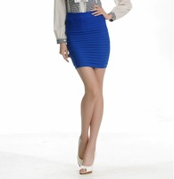 Fashion pleated slim hip skirt pleated skirt stripe a-line skirt bust skirt spring and summer autumn
