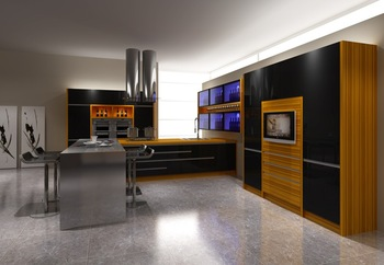 Color combination kitchen