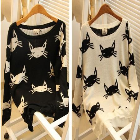 Пуловер С Кошкой Доставка