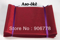 Red color African fashion design Aso-Oke head tie,Kente aso oke head wrap,comes with the shawl and colorful,High quality