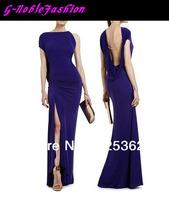 High fashion designer brand ladies backless evening dress 2013