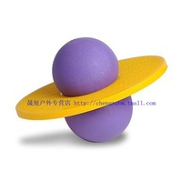 Free shipping Hot sell toy for children Bouncing Fitness Jump ball Presented pump lose weight ball   Purple and yellow