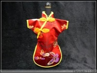 Factory direct 10pieces 28*21 chinese cheongsam wine bottle bags wedding party wine bag Free shipping